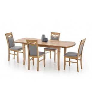 FRYDERYK 160/240 cm extension table color: craft oak
