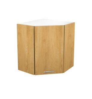 VENTO GN-60/72 corner top cabinet, color: white / honey oak