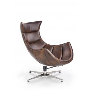 LUXOR leisure chair, color: dark brown