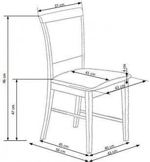 SYLWEK1 chair dark black / MONOLITH 37