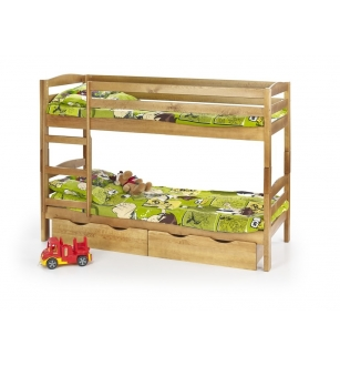 SAM bunk bed with mattresses color: pine