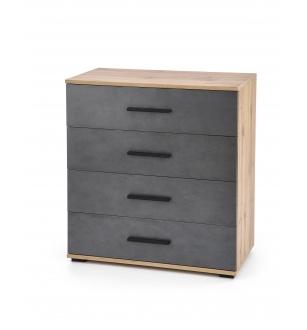 LIMA KM-3 chest, color: wotan oak / grey - matera