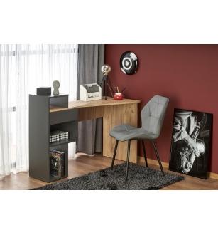 CONTI desk antracite / wotan oak