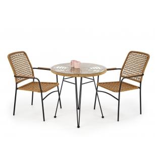 FALCON table color: natural / black