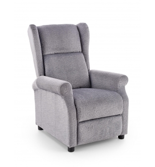 AGUSTIN recliner with massage function, color: grey